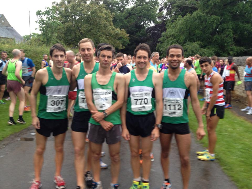 Pre Race 1st Place Men's Team Photo. Confidence & Short Shorts.